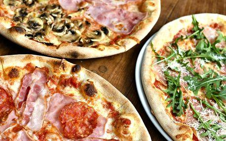 2× pizza či pasta na Starém Městě a sleva na nápoje