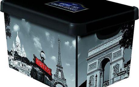 Curver Dekorativní úložný box L PARIS - 04711-P35