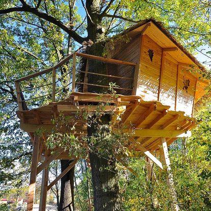 Český ráj: Treehouse pro 4 osoby se snídaní