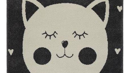 Dětský koberec Cat 2, 100/150cm, Antracitová