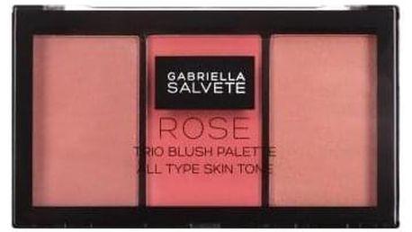 Gabriella Salvete Trio Blush Palette 15 g paletka růžových tvářenek pro ženy 02 Rose