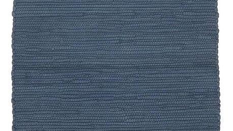 Hadrový Koberec Julia 2, 70/130cm, Tm. Modrá