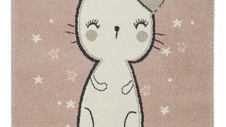 Dětský Koberec Bunny 2, 100/150cm, Růžová
