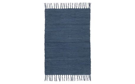Hadrový Koberec Julia 3, 70/230cm, Tm.modrá