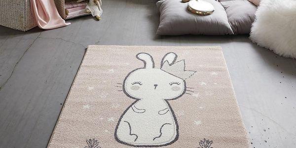 Dětský Koberec Bunny 2, 100/150cm, Růžová3