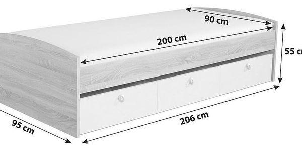 Jednolůžková Postel S Úložným Prostorem Point, 90x200 Cm4