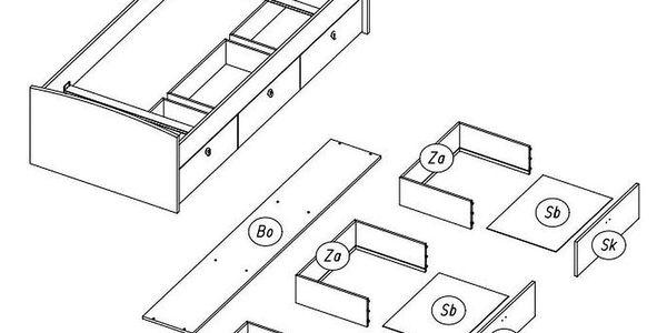 Jednolůžková Postel S Úložným Prostorem Point, 90x200 Cm5