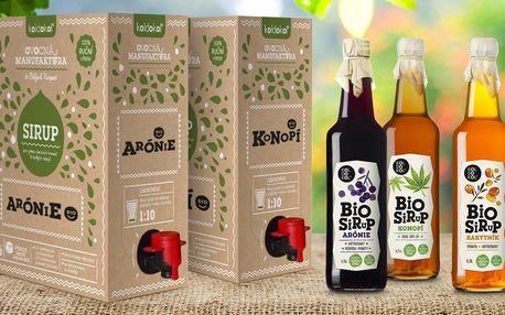 Bio sirupy bez cukru: zázvor, rakytník i konopí