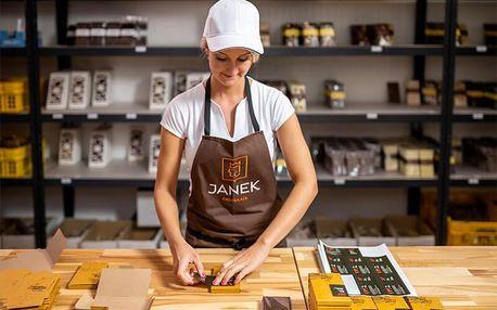 Domácí degustace čokolády s čokoládovnou Janek + krabice čokolád, pralinek a oříškového krému