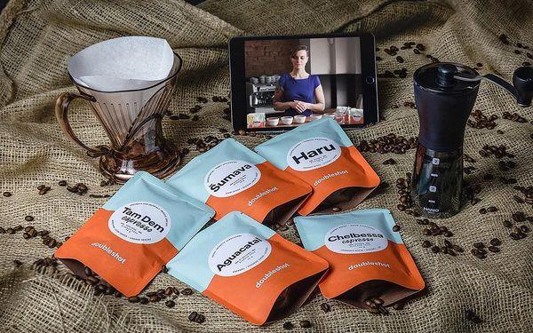 Online kurz přípravy kávy s pražírnou DOUBLESHOT + 5 druhů špičkové kávy + sada na přípravu kávy + kvalitní mlýnek, U vás doma, Domácí příprava kávy4