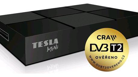 DVB-T2 přijímač Tesla TE-380 mini H.265 (HEVC), ověřeno CRA