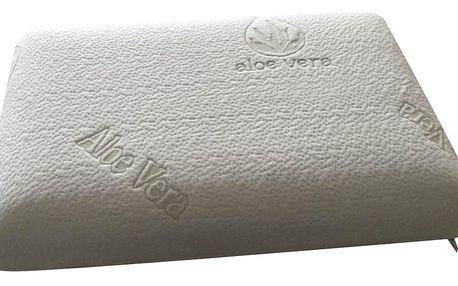 Anatomický polštář VISCOPUR® MEMO-GEL Aloe neprofilovaný 40x60cm