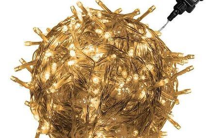 VOLTRONIC® 1223 Vánoční LED osvětlení 20 m - teple bílá 200 LED
