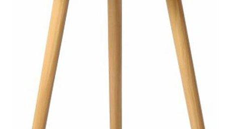 Příruční stolek, bílá / přírodní, PAMINO