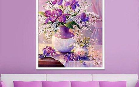 Sada pro výrobu vlastního obrazu s motivem květiny - 30 x 40 cm - dodání do 2 dnů