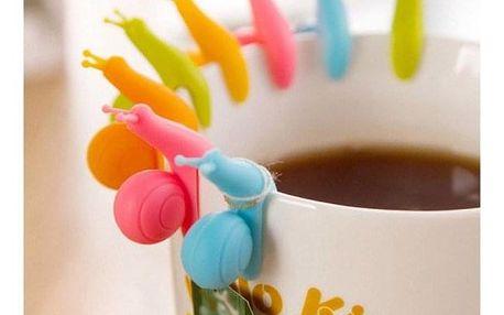 Držáček na čajový sáček ve tvaru šneka - dodání do 2 dnů