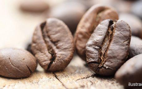 Až 1 kg zrnkové kávy s vyzvednutím v centru Brna