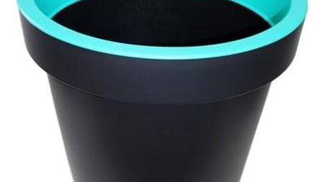 Kvalitní plastový květináč SEGA velký modrý 40x36 cm