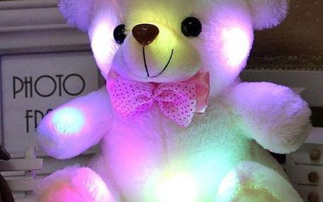 Svítící plyšový medvídek pro děti - 5 barev - dodání do 2 dnů