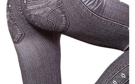 Legíny v džínovém designu - knoflíky - dodání do 2 dnů