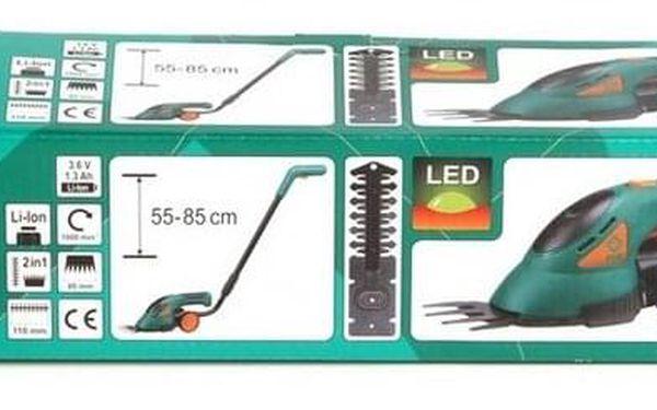 akumulátorové nůžky na trávu Flo 3,6V LiON s teleskopickou násadou5