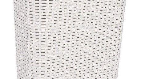 CURVER STYLE RATTAN 30461 Koš na prádlo 40 l krémová