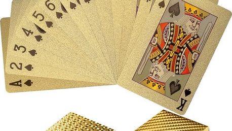 Tuin 60782 Poker karty plastové - zlaté