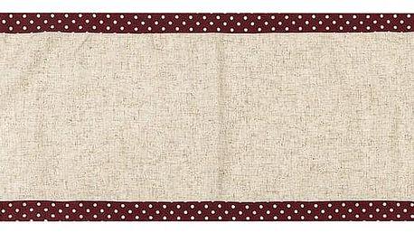BO-MA Trading Běhoun Srdíčka puntík červená, 40 x 140 cm