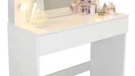 Toaletní kosmetický stolek Linda 80x40x140cm se zrcadlem