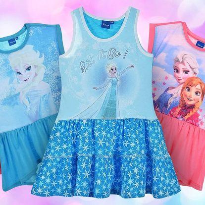 Dívčí šaty s motivy Disney Frozen ve 3 barvách