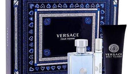 Versace Pour Homme dárková kazeta pro muže toaletní voda 100 ml + toaletní voda 10 ml + sprchový gel 150 ml