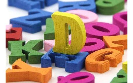 Dřevěná písmenka DP100 - dodání do 2 dnů
