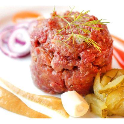 Namíchaný tatarák z hovězího masa, 300 nebo 500 g
