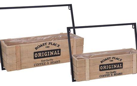 Sada dřevěných držáků na truhlíky Original, 2 ks