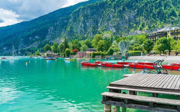 Pěšky za krásami rakouských jezer, autobusem, snídaně v ceně2