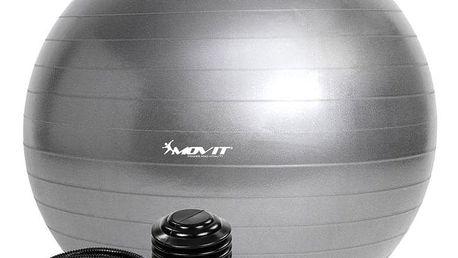 MOVIT 54096 Gymnastický míč s pumpou - 85 cm - stříbrný