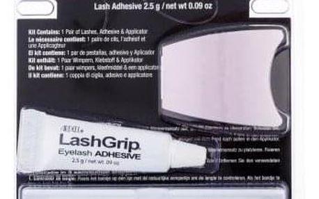 Ardell Glamour 105 dárková kazeta pro ženy umělé řasy Glamour 1 pár + lepidlo na řasy LashGrip 2,5 g + aplikátor 1 ks Black