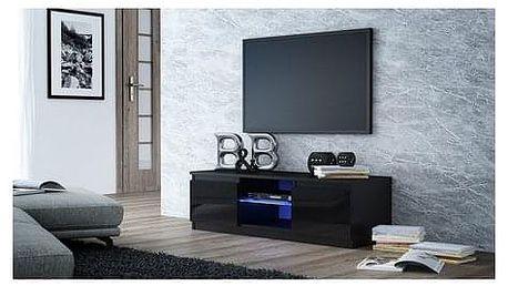 TV stolek LCD glass 140 cm černá lesklá