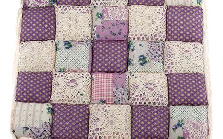 Dakls Prošívaný sedák Kostky fialová, 40 x 40 cm