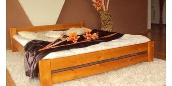 Vyvýšená masivní postel Euro 120x200 cm včetně roštu Olše2