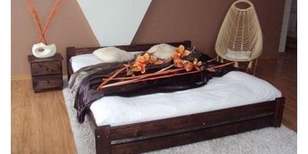 Vyvýšená masivní postel Euro 120x200 cm včetně roštu Olše3