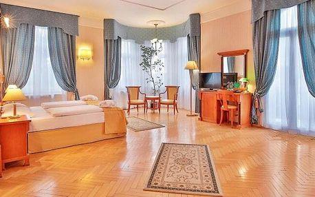 Mariánské Lázně u Hlavní kolonády v Hotelu Belvedere Spa & Wellness **** s bazénem, procedurami a snídaněmi
