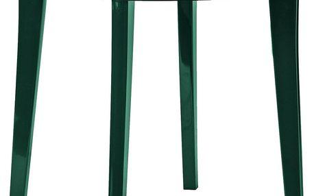 LISA stůl - tmavě zelená