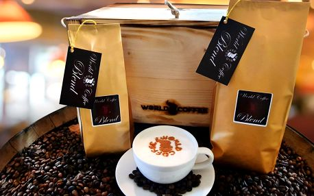 250 g zrnkových i mletých káv z celého světa