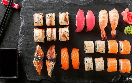 Sushi v podzámčí: 24 nebo 38 čerstvých rolek