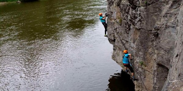 Kurz Via ferrata - lezení s teorií v Bechyni4