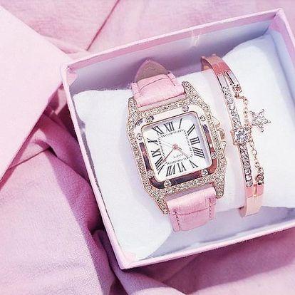 Dámské hodinky a náramek Ellia