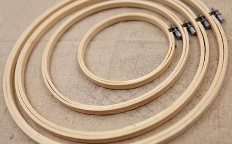 Vyšívací bambusový kruh - různé průměry