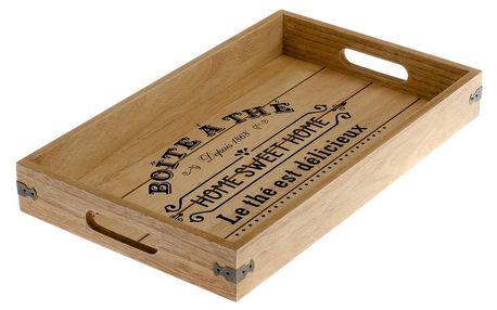 Dřevěný podnos, 40 x 5 x 24 cm
