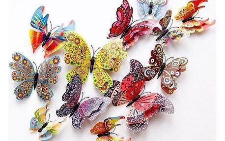 Sada 3D motýlků na záclonu Evie